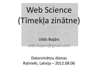 Web Science ( Tīmekļa zinātne )