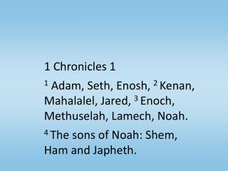 1 Chronicles 1