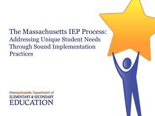 Massachusetts IEP Process