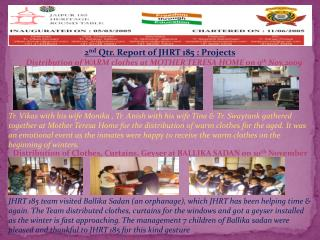 2 nd  Qtr. Report of JHRT 185 : Projects