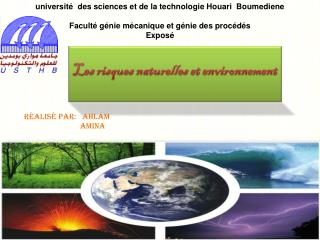 université  des sciences et de la technologie Houari  Boumediene