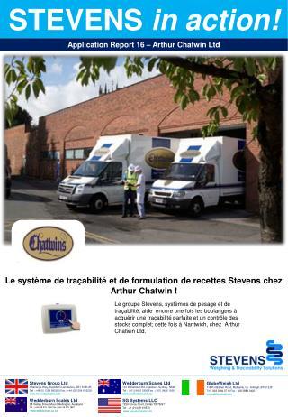 Le  système  de  traçabilité  et de  formulation de recettes  Stevens chez Arthur Chatwin !