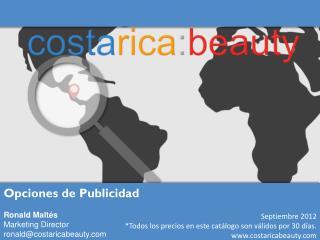 Septiembre  2012 *Todos los precios en este catálogo son válidos por 30 días.