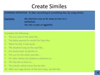 Create Similes