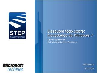Descubre todo sobre: Novedades de Windows 7