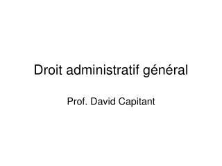 Droit administratif g