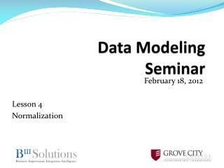 Data Modeling Seminar