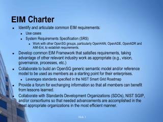 EIM  Charter