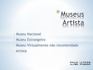 Museus Artista