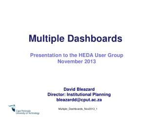 Multiple Dashboards