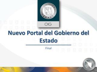 Nuevo Portal del Gobierno del Estado
