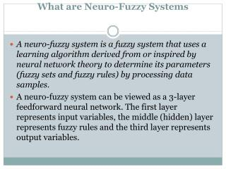 What are Neuro-Fuzzy Systems