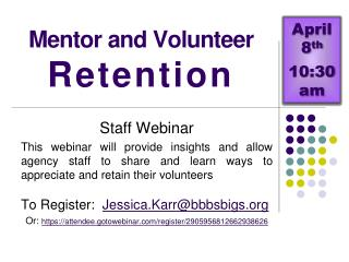 Mentor and Volunteer  Retention