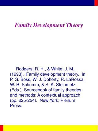 Family Development Theory