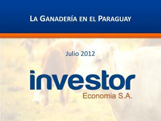 La Ganader�a en el Paraguay