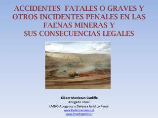 ACCIDENTES  FATALES O GRAVES Y OTROS INCIDENTES PENALES EN LAS FAENAS MINERAS Y