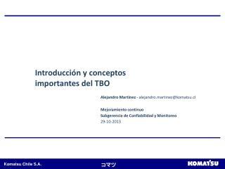 Introducci�n y conceptos importantes del TBO