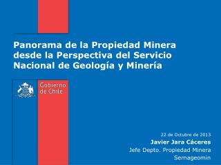 Panorama de la Propiedad Minera desde la Perspectiva del Servicio Nacional de Geología y Minería