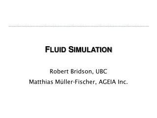 F LUID S IMULATION