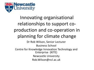 Dr Rob Wilson, Senior Lecturer Business School