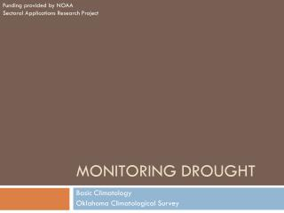 Monitoring drought
