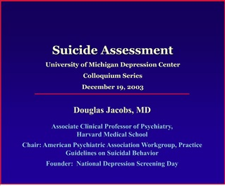 SUICIDE ASSESSMENT PROTOCOL