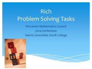 Rich  Problem Solving Tasks