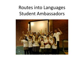 Routes into Languages Student Ambassadors