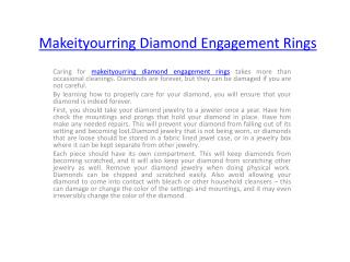 Makeityourring Diamond Engagement Rings