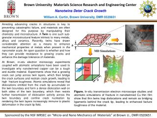 Brown University  Materials Science Research and Engineering Center