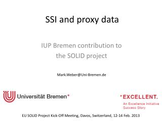 SSI  and proxy data