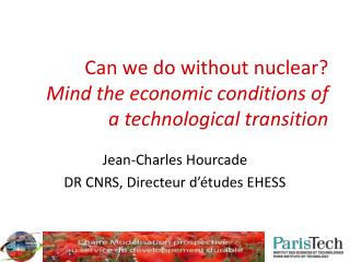 Can we do without nuclear? Mind the economic conditions of a technological transition