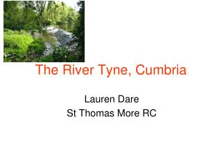 The River Tyne, Cumbria