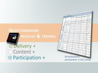 Questionnaire  results  & trends