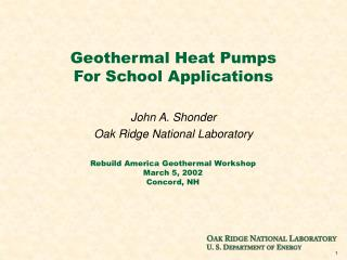 Geothermal Heat Pumps For School Applications