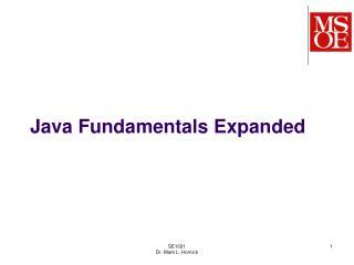 Java Fundamentals Expanded