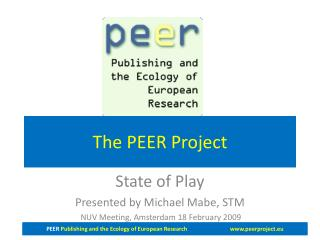 The PEER Project