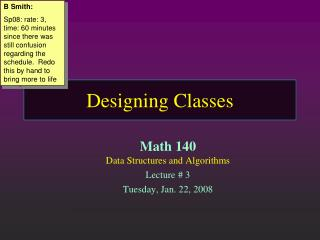 Designing Classes