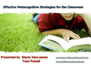 Effective Metacognitive Strategies for the Classroom