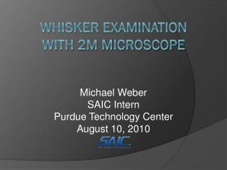 Whisker Examination with 2M Microscope