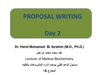 Proposal Writing Session 2