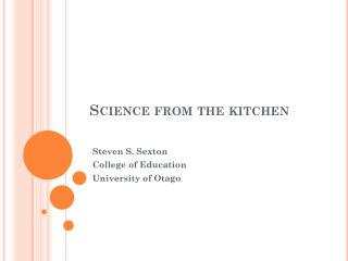 Science from the kitchen