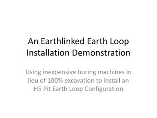 H5 Pit Installatioon
