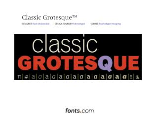 IMAGES Classic Grotesque Typeface by Rod McDonald 090512074912 77