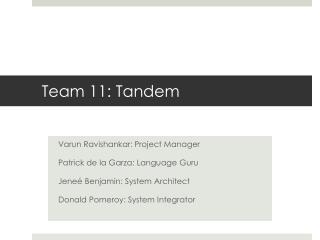 Team 11: Tandem