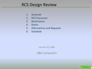 RCS Design Review