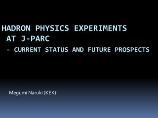 Hadron Physics Experiments  at J-PARC - Current Status and Future Prospects