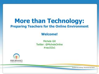 More than Technology: Preparing Teachers for the Online Environment