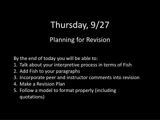 Thursday, 9/27