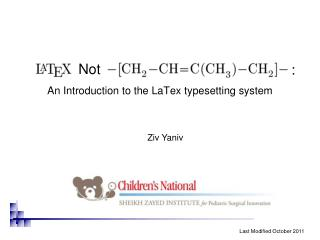 An Introduction to the  LaTex  typesetting system
